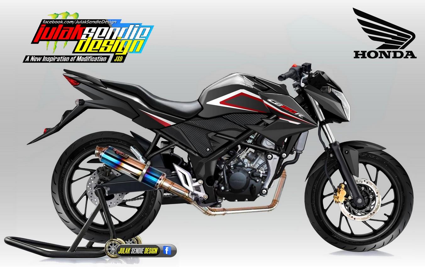 106 Modif Motor Cb 150 R Warna Hitam Modifikasi Motor Honda CB Terbaru