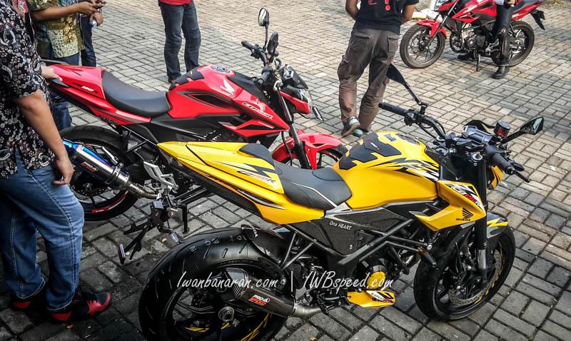 Honda CB150R facelift versi modifikasi ini menjadi pusat perhatian